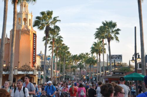 Crowds at Disney World