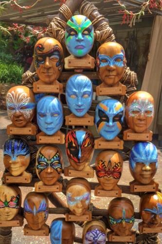 Colors of Mo'ara Face painting Pandora
