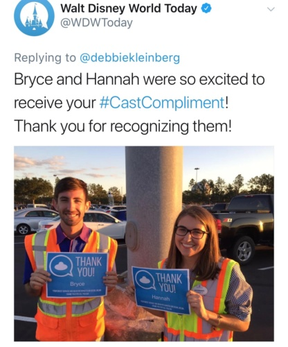 CastCompliment on Twitter for Disney World Castmembers